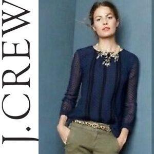 J.Crew chiffon dot blouse